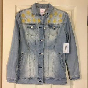 NWT Lularoe Jaxon Jacket With Embroidered Stars